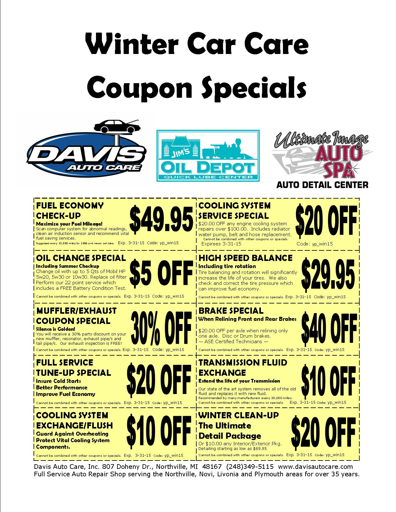 Discount Coupons For Car Service